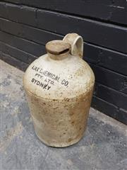 Sale 9006 - Lot 1069 - Ceramic Demijohn Marked Ajax Chemical Company Sydney (H:43cm)
