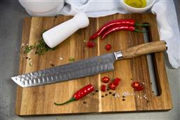 Sale 9220L - Lot 46 - USK Signature Brisket / Carving Knife 10 - Olive Wood Handle