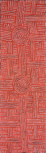 Sale 8339A - Lot 511 - Bambatu Napangardi (c1940 - ) - Kungka Tjukurrpa 144 x 42cm