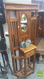 Sale 8455 - Lot 1074A - Small Mahogany Mirror Back Hallstand