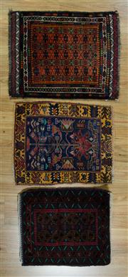 Sale 8617C - Lot 80 - 3 Pieces of baluchi Doormat 65x53