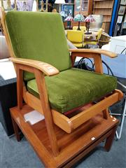 Sale 8680 - Lot 1081 - Rimu Retro Timber Framed Armchair (NZ)
