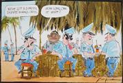 Sale 8883A - Lot 5043 - Bill Leak (1956 - 2017) - Police & Kings Cross 23 x 34 cm