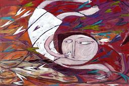 Sale 9125 - Lot 549 - Janine Daddo - Falling in Love 60 x 90 cm (frame: 78 x 108 cm)