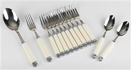 Sale 9255H - Lot 6 - A quantity of Christofle Aria Ivoire stainless steel cutlery (13pcs);