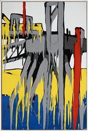 Sale 8510 - Lot 551 - Jasper Knight (1978 - ) - Delta Wharf II, London Docks 2007 75 x 50cm