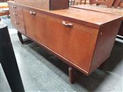 Sale 8822 - Lot 1071 - Vintage Teak Sideboard with Central Fall-Front Bar Section