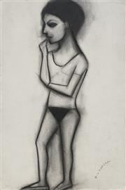 Sale 8738 - Lot 544 - Robert Dickerson (1924 - 2015) - In thought 56 x 37cm