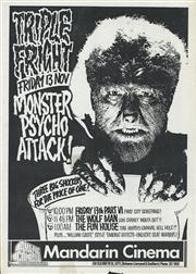 Sale 8766A - Lot 5024 - Triple Fright Monster Psycho Attack! - screenprint
