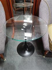 Sale 8801 - Lot 1078 - Saarinen Glass Top Wine Table