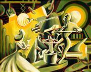 Sale 8787A - Lot 5061 - Attributed Corydon Granger Snyder (1879 - ) - Untitled (Television Studio), 1957 40.5 x 50.5cm