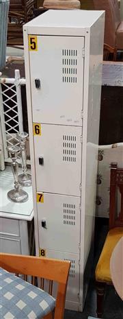 Sale 8934 - Lot 1083 - Metal Bay of Four Lockers
