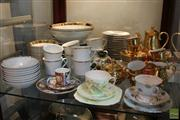 Sale 8288 - Lot 92 - St Kilda Gilt Coffee Set with Other Ceramics & Placemats