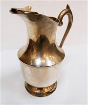Sale 8312A - Lot 16 - A vintage French silver plate water jug, size 23 x 19 cm