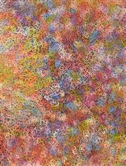 Sale 8339A - Lot 561 - Gloria Petyarre (c1945 - ) - Mountain Devil Lizard (swirling in the sand) 200 x 153cm