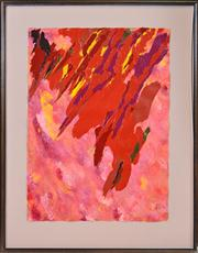 Sale 8358 - Lot 523 - Ron Robertson-Swann (1941 - ) - Bonfire, 1991 79 x 58cm