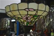 Sale 8361 - Lot 1024 - Leadlight Shade Standard Up Lamp