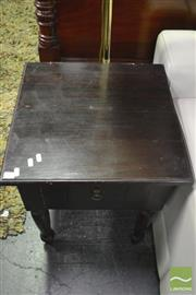 Sale 8390 - Lot 1603 - Pair of Timber Side Tables with Single Drawer
