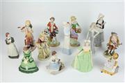 Sale 8405 - Lot 82 - Franklin Mint Marie Antoinette Figure with Other Figures incl. Meg