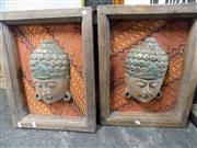 Sale 8437 - Lot 2082 - 2 Faces of Buddha