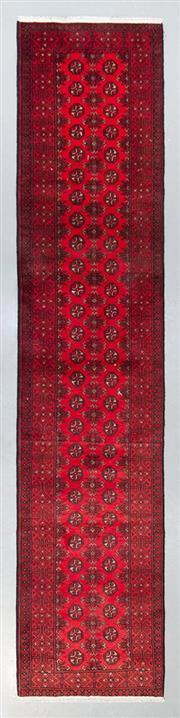 Sale 8499C - Lot 44 - Afghan Turkman Runner 250cm x 80cm