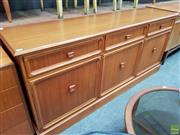 Sale 8607 - Lot 1029 - 1970s Teak Parker Sideboard (H: 84 W: 188 D: 47cm)