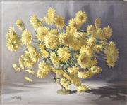 Sale 8711 - Lot 2001 - William K Tootill (? - 2009) - Chrysanthemum 49.5 x 59.5cm