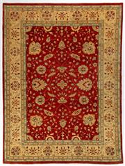 Sale 8740C - Lot 6 - An Afghan Chobi Naturally Dyed In Hand Spun Wool, Very Suitable To Australian Interiors, 405 x 305cm
