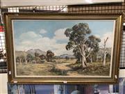 Sale 8789 - Lot 2147 - Laszlo Lukacs - Fields of Burrawang oil on board, 43 x 75cm, signed lower left -