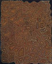 Sale 9080J - Lot 23 - Artist Unknown (Aboriginal) - Untitled 131 x 106 cm (stretched and ready to hang)