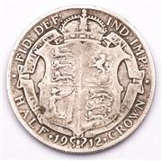 Sale 9078 - Lot 111 - A George V sterling silver half crown c1912