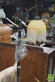 Sale 8390 - Lot 1125 - Glass Shade Standard Lamp