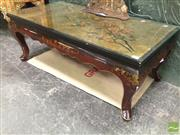 Sale 8412 - Lot 1010 - Oriental Coffee Table with Glass Top