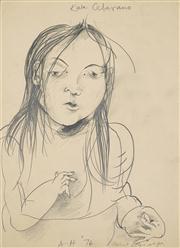 Sale 8411A - Lot 5073 - Anne Hall (1945 - ) - Kate Ceberano, 1976 38 x 28cm