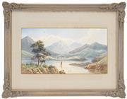 Sale 8443 - Lot 537 - John Barr Clarke Hoyte (1835 - 1913) - Inlet Drift 17 x 32cm