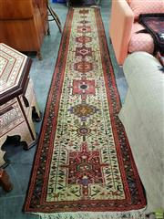 Sale 8570 - Lot 1083 - Red and Cream Tone Hall Runner