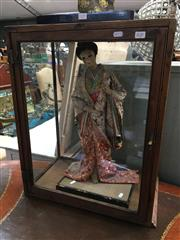 Sale 8684 - Lot 1046 - Vintage Timber and Glass Display Case