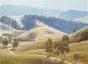 Sale 8699 - Lot 2004 - Christine Huber (1936 - ) - Oberon District, 1975 54.5 x 75cm (frame: 73.5 x 93.5cm)