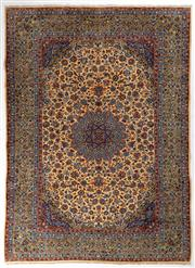 Sale 8740C - Lot 7 - A Persian Kashan From Isfahan Region 100% Wool Pile On Cotton Foundation, 410 x 298cm