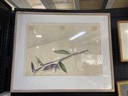 Sale 9004 - Lot 2031 - J.Foster - For Glenn (Still Life Plant), watercolour, SLR