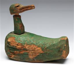 Sale 9148 - Lot 8 - Vintage timber decoy duck (L:19cm)