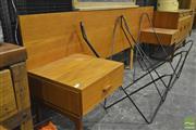 Sale 8287 - Lot 1076 - G-Plan Teak Headboard with Two Lockers