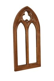 Sale 8342A - Lot 308 - An ornate arch resin framed mirror, in the ecclesiastical style, H 122 x W 62cm