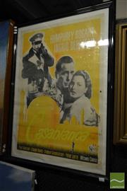Sale 8503 - Lot 2081 - Framed Casablanca Movie Print
