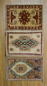 Sale 8559C - Lot 60 - 3 x Afghan Chobi Rugs 60cm x 40cm