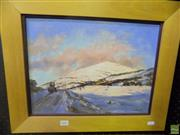 Sale 8561 - Lot 2048 - S. Ballard Pink Dawn Perisher Valley 30 x40cm, signed lower right