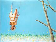 Sale 8644A - Lot 41 - David Baker - Swinging in the Park, 1977 93 x 133cm