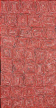 Sale 8743 - Lot 569 - George Ward Tjungurrayi (c1945 - ) - Tingari 120 x 61cm (stretched and ready to hang)