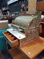 Sale 8908 - Lot 1094 - Vintage National Cash Register (Key in Office)