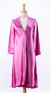 Sale 8891F - Lot 84 - An Yves Saint Laurent pink silk-satin shift dress, made in Italy, size 10